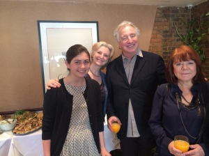 Maria Decker, Palmyra Relief Board member Franca Fiabane, and Palmyra Patrons Alan Rickman and Rima Horton